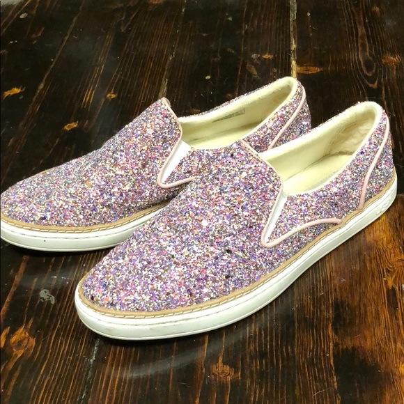 694ba3044da UGG Adley chunky glitter slip on sneakers